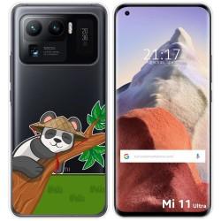 Funda Gel Transparente para Xiaomi Mi 11 Ultra 5G diseño Panda Dibujos