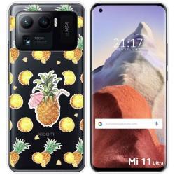 Funda Gel Transparente para Xiaomi Mi 11 Ultra 5G diseño Piña Dibujos