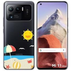 Funda Gel Transparente para Xiaomi Mi 11 Ultra 5G diseño Playa Dibujos