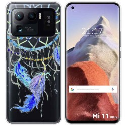 Funda Gel Transparente para Xiaomi Mi 11 Ultra 5G diseño Plumas Dibujos