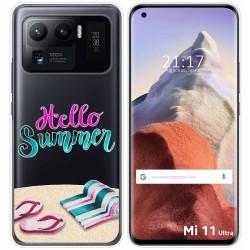 Funda Gel Transparente para Xiaomi Mi 11 Ultra 5G diseño Summer Dibujos