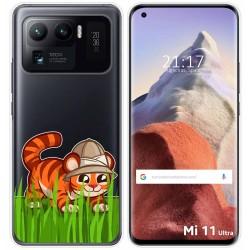 Funda Gel Transparente para Xiaomi Mi 11 Ultra 5G diseño Tigre Dibujos