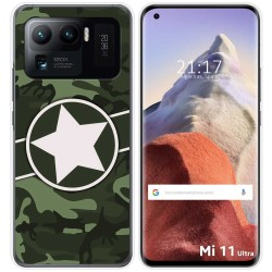 Funda Gel Tpu para Xiaomi Mi 11 Ultra 5G diseño Camuflaje 01 Dibujos