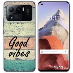 Funda Gel Tpu para Xiaomi Mi 11 Ultra 5G diseño Madera 01 Dibujos