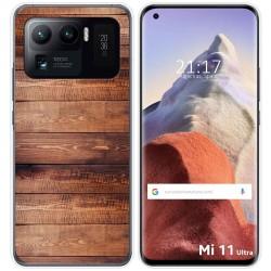 Funda Gel Tpu para Xiaomi Mi 11 Ultra 5G diseño Madera 02 Dibujos