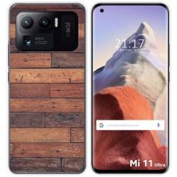 Funda Gel Tpu para Xiaomi Mi 11 Ultra 5G diseño Madera 03 Dibujos