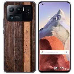 Funda Gel Tpu para Xiaomi Mi 11 Ultra 5G diseño Madera 05 Dibujos