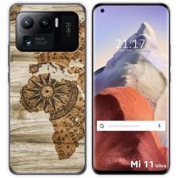 Funda Gel Tpu para Xiaomi Mi 11 Ultra 5G diseño Madera 07 Dibujos