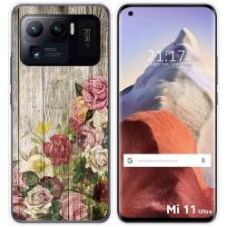 Funda Gel Tpu para Xiaomi Mi 11 Ultra 5G diseño Madera 08 Dibujos