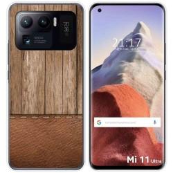 Funda Gel Tpu para Xiaomi Mi 11 Ultra 5G diseño Madera 09 Dibujos