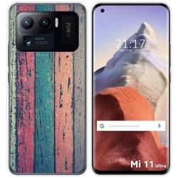 Funda Gel Tpu para Xiaomi Mi 11 Ultra 5G diseño Madera 10 Dibujos