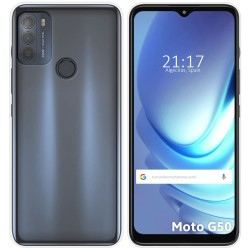 Funda Silicona Gel TPU Transparente para Motorola Moto G50