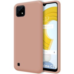 Funda Silicona Líquida Ultra Suave para Realme C21 color Rosa