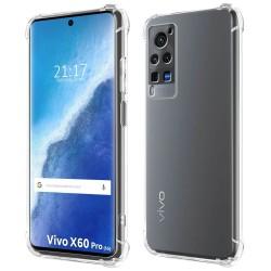 Funda Gel Tpu Antigolpes Transparente para Vivo X60 Pro 5G
