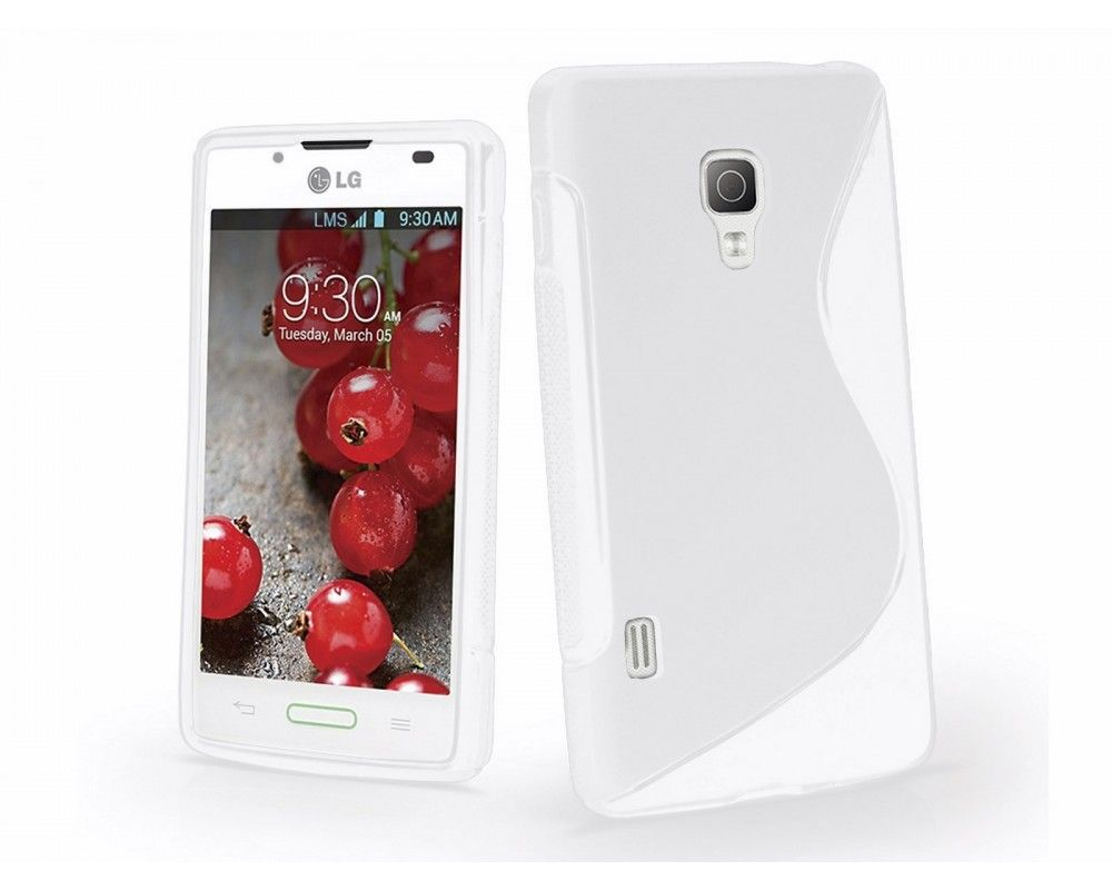 Funda Gel Tpu Lg Optimus L7 II P710 S Line Color Blanca