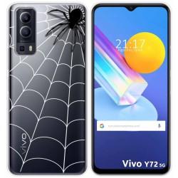Funda Gel Transparente para Vivo Y72 5G diseño Araña Dibujos