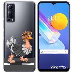 Funda Gel Transparente para Vivo Y72 5G diseño Avestruz Dibujos