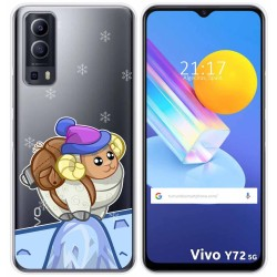 Funda Gel Transparente para Vivo Y72 5G diseño Cabra Dibujos