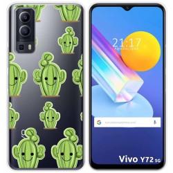 Funda Gel Transparente para Vivo Y72 5G diseño Cactus Dibujos