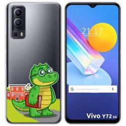 Funda Gel Transparente para Vivo Y72 5G diseño Coco Dibujos