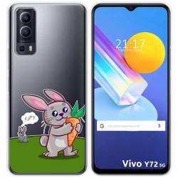 Funda Gel Transparente para Vivo Y72 5G diseño Conejo Dibujos