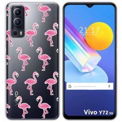 Funda Gel Transparente para Vivo Y72 5G diseño Flamenco Dibujos