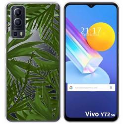 Funda Gel Transparente para Vivo Y72 5G diseño Jungla Dibujos