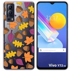 Funda Gel Transparente para Vivo Y72 5G diseño Otoño Dibujos