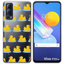 Funda Gel Transparente para Vivo Y72 5G diseño Pato Dibujos