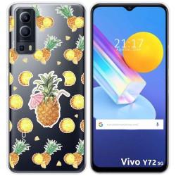 Funda Gel Transparente para Vivo Y72 5G diseño Piña Dibujos