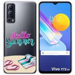 Funda Gel Transparente para Vivo Y72 5G diseño Summer Dibujos