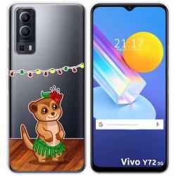 Funda Gel Transparente para Vivo Y72 5G diseño Suricata Dibujos