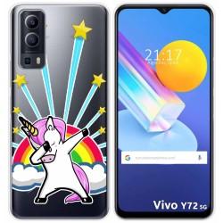 Funda Gel Transparente para Vivo Y72 5G diseño Unicornio Dibujos