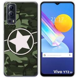 Funda Gel Tpu para Vivo Y72 5G diseño Camuflaje 01 Dibujos