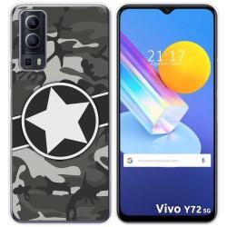 Funda Gel Tpu para Vivo Y72 5G diseño Camuflaje 02 Dibujos