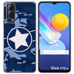 Funda Gel Tpu para Vivo Y72 5G diseño Camuflaje 03 Dibujos