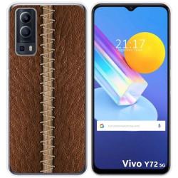 Funda Gel Tpu para Vivo Y72 5G diseño Cuero 01 Dibujos