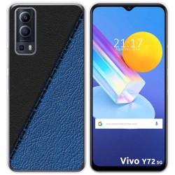Funda Gel Tpu para Vivo Y72 5G diseño Cuero 02 Dibujos