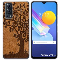 Funda Gel Tpu para Vivo Y72 5G diseño Cuero 03 Dibujos