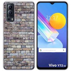 Funda Gel Tpu para Vivo Y72 5G diseño Ladrillo 02 Dibujos