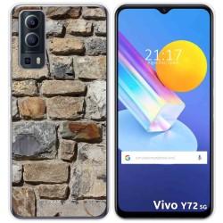 Funda Gel Tpu para Vivo Y72 5G diseño Ladrillo 03 Dibujos