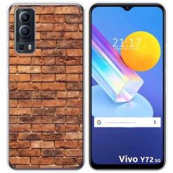 Funda Gel Tpu para Vivo Y72 5G diseño Ladrillo 04 Dibujos