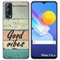 Funda Gel Tpu para Vivo Y72 5G diseño Madera 01 Dibujos