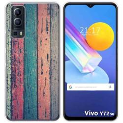 Funda Gel Tpu para Vivo Y72 5G diseño Madera 10 Dibujos