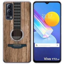 Funda Gel Tpu para Vivo Y72 5G diseño Madera 11 Dibujos