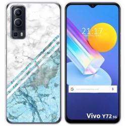 Funda Gel Tpu para Vivo Y72 5G diseño Mármol 02 Dibujos
