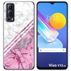 Funda Gel Tpu para Vivo Y72 5G diseño Mármol 03 Dibujos