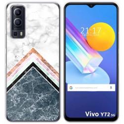 Funda Gel Tpu para Vivo Y72 5G diseño Mármol 05 Dibujos