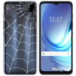 Funda Gel Transparente para Motorola Moto G50 5G diseño Araña Dibujos