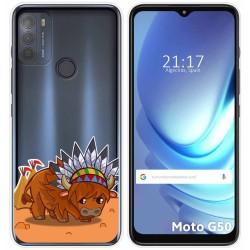Funda Gel Transparente para Motorola Moto G50 5G diseño Bufalo Dibujos